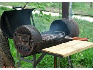Как сделать мангал барбекю из металла своими руками